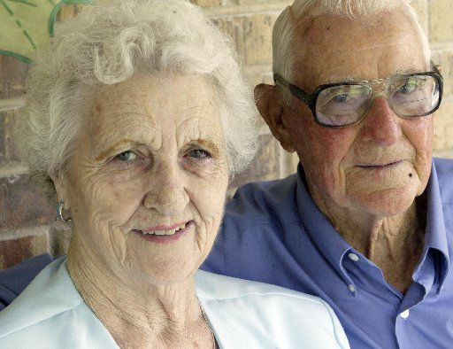 R.V. Burgin met wife Florence shortly before he was deployed to the Pacific and married her after the war. She died in 2011.