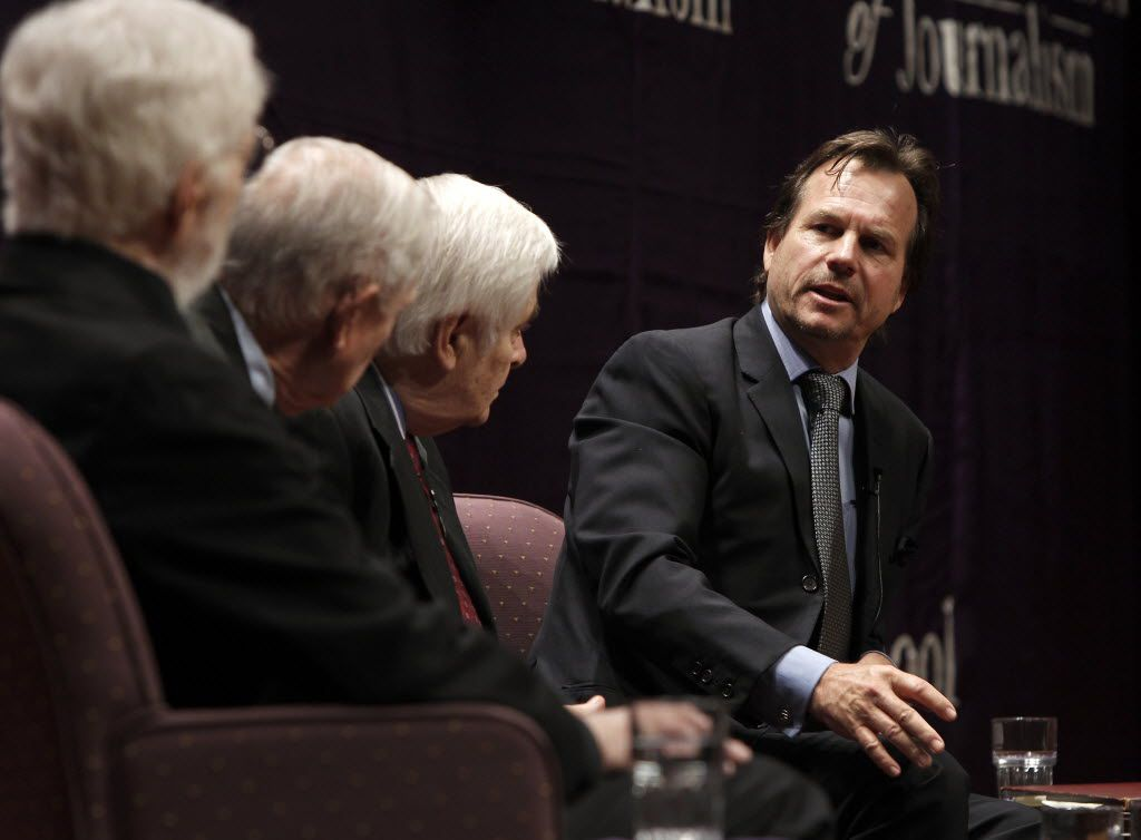 "Bill Paxton, actor, director and Fort Worth native, talks about when he was a child who was at JFK's speech in Fort Worth at the TCU Schieffer School of Journalism event, ""Fort Worth Remembers JFK"" at Ed Landreth Auditorium on the TCU campus in Fort Worth."