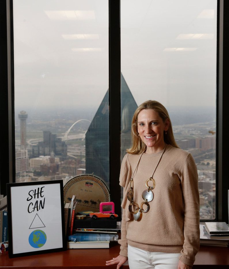 Nicole Small, president of Lyda Hill Philanthropies, poses for a photograph at her office in Dallas on Friday, March 1, 2019.