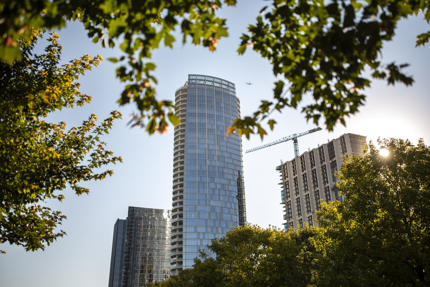 Only one of the original developer-owned condos in Museum Tower — shown from Klyde Warren Park — is still for sale.