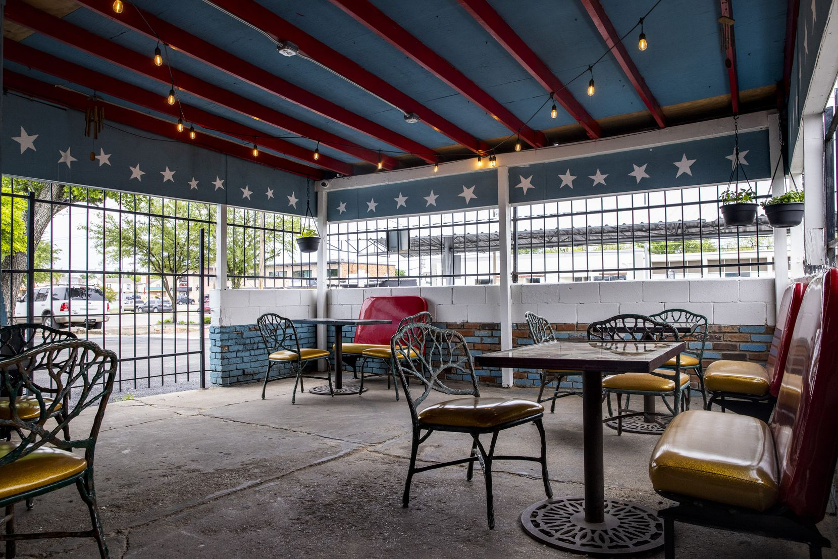 The front patio of Charlie's Star Lounge, a dive bar opening soon in East Dallas and photographed on Thursday, April 22, 2021.