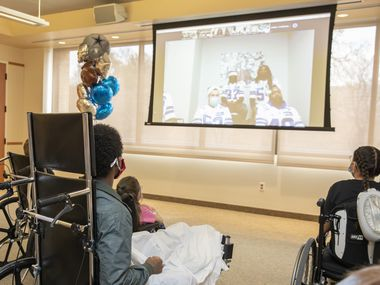 Because of COVID-19 safeguards, Cowboys players were unable to make their annual, in-person holiday visit to hospitals in the Dallas and Fort Worth area.