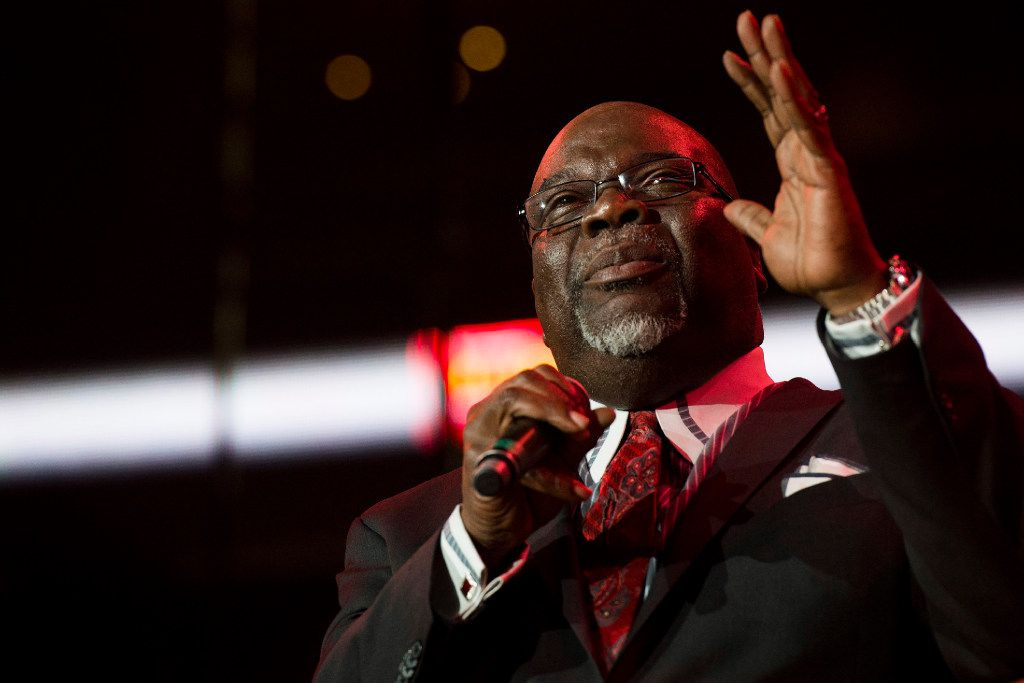 Bishop T.D. Jakes speaks during McDonald's Gospelfest in May 2013 at the Prudential Center in Newark, N.J.