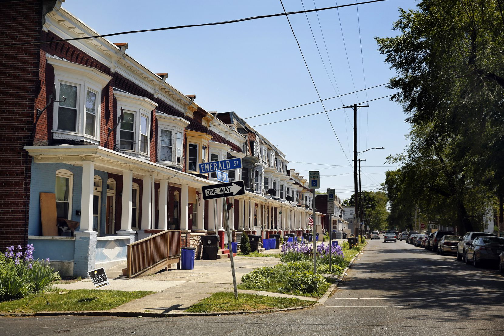 Dallas Cowboys first-round draft pick Micah Parsons grew up with his family in this row house at Jefferson and Emerald streets in Harrisburg, Pa., Wednesday, May 19, 2021.