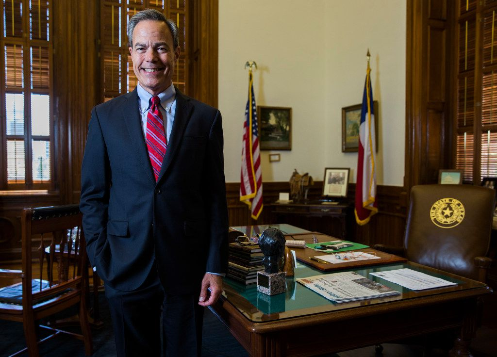 Speaker of the House Joe Straus poses for a portrait in his office on the third day of a special legislative session on Thursday, July 20, 2017 at the Texas state capitol in Austin, Texas. (Ashley Landis/The Dallas Morning News)