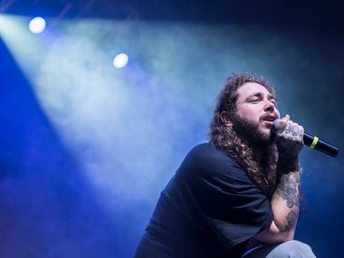 Post Malone performs at The Bomb Factory in 2017.  (Rex C. Curry/Special Contributor)