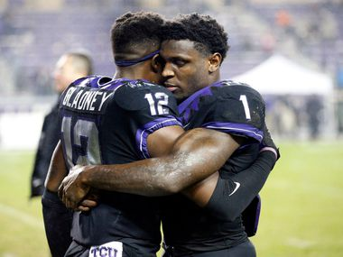 Jeff Gladney (12) and Jalen Reagor (1) left gaping holes in the TCU roster for 2020. (Tom Fox/The Dallas Morning News)