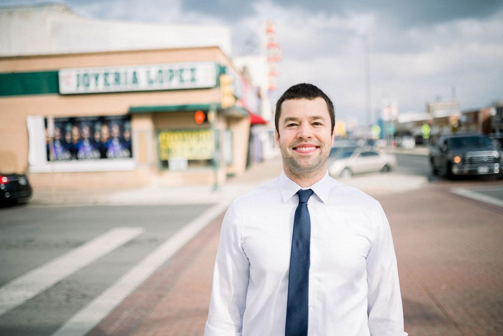 Ben Mackey, outgoing principal of DISD's School for the Talented and Gifted, was ahead on votes for the District 7 seat.