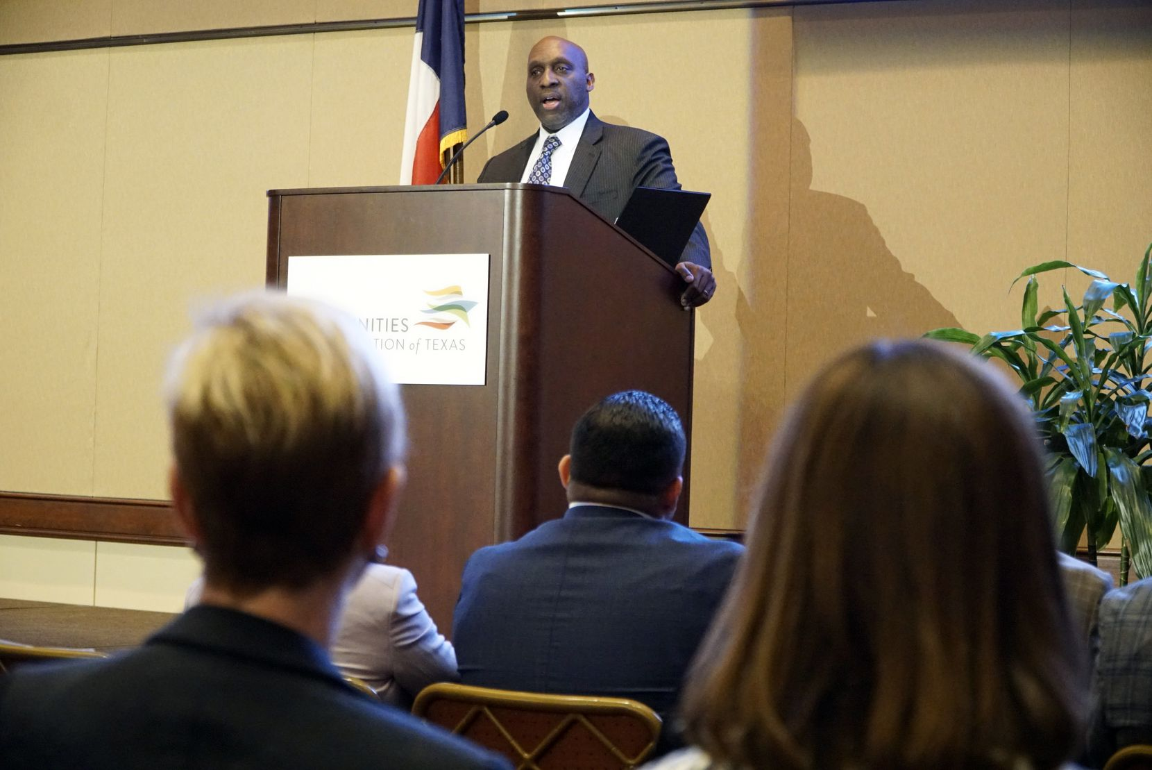 City Manager T.C. Broadnax speaks about the city's equity indicators project at the Communities Foundation of Texas in Dallas in 2019. Broadnax released details about employees being furloughed in a letter sent to city workers on May 8, 2020.