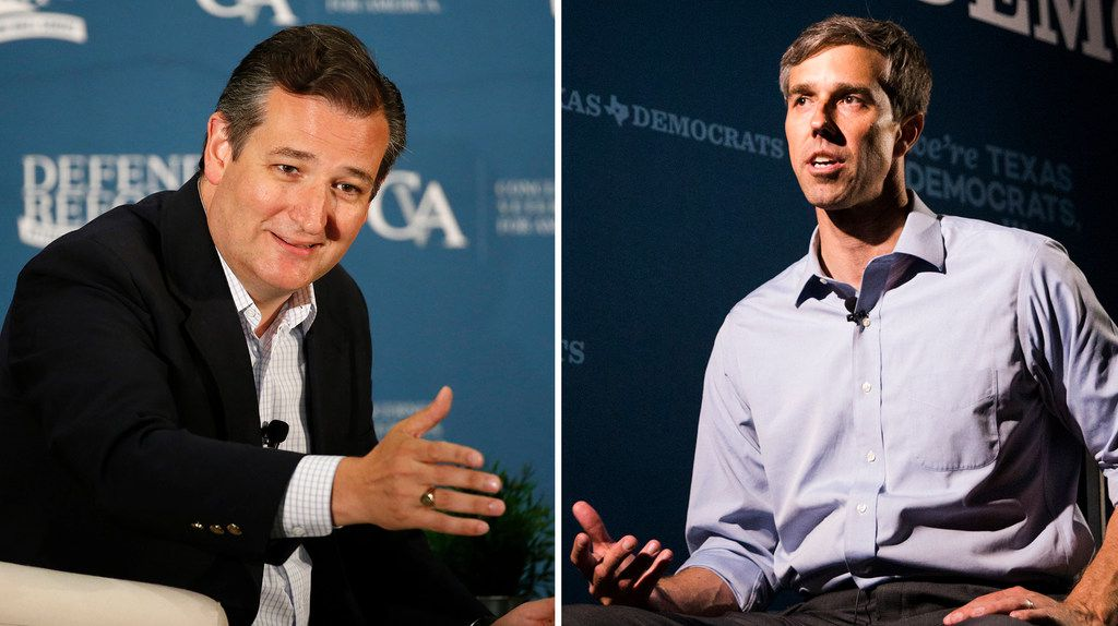 Sen. Ted Cruz is running against U.S. Rep. Beto O'Rourke, for the Texas seat in the U.S. Senate. (Rose Baca & Ashley Landis/The Dallas Morning News)