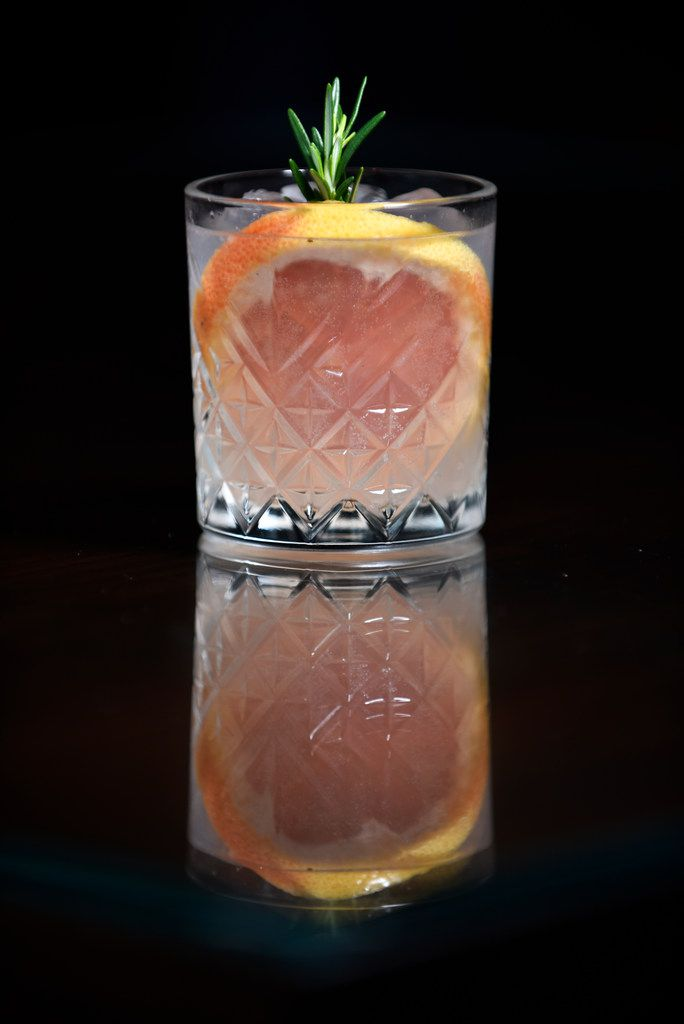 The NOloma, a cocktail with Seedlip garden nonalcoholic spirits, grapefruit, lime juice and tonic, at the Pegasus Bar inside the Omni Hotel in downtown Dallas.