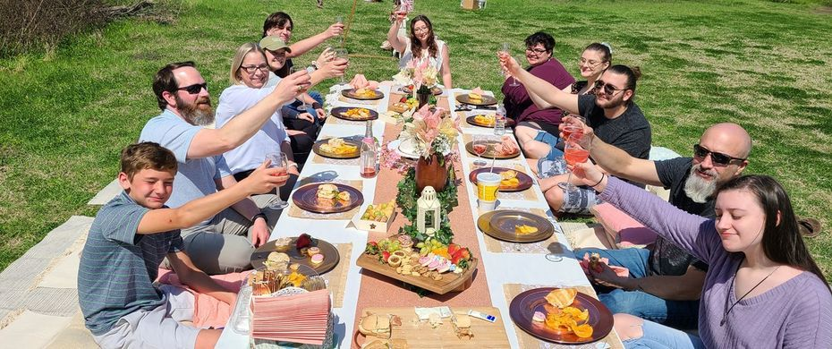 Brandi Huddleston got the idea for Picnics by Brandi after throwing this 19th birthday party picnic for her daughter, Elizabeth.