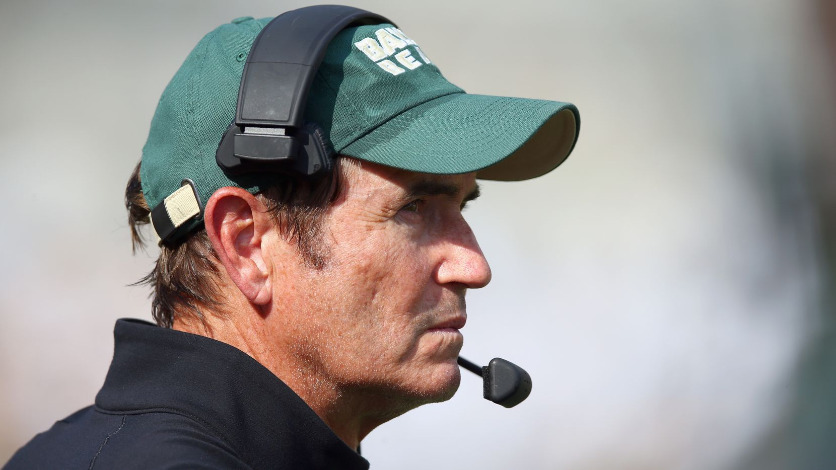 WACO, TX - SEPTEMBER 26:  Head coach Art Briles of the Baylor Bears leads his team against the Rice Owls at McLane Stadium on September 26, 2015 in Waco, Texas.  (Photo by Tom Pennington/Getty Images)