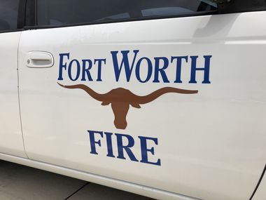 A Fort Worth fire vehicle pictured in this file photo.