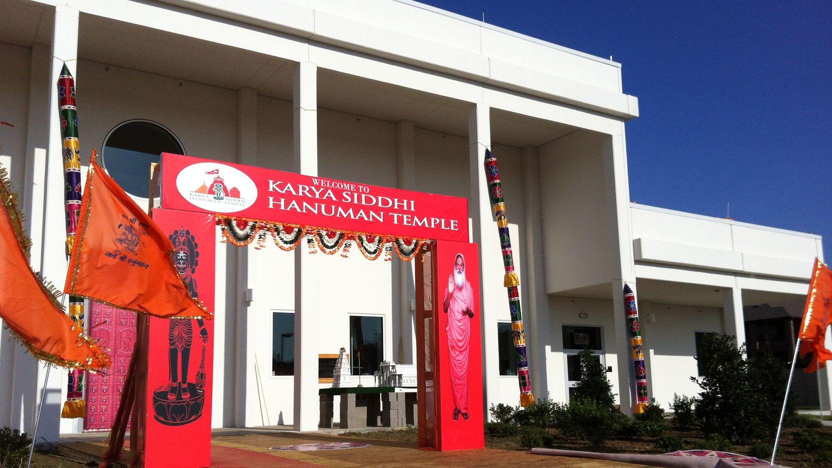 The new Karya Siddhi Hanuman Temple serves the area's growing Asian Indian population.