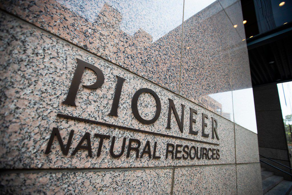***FOR TOP 100 - DO NOT USE *** Exterior view of the offices of Pioneer Natural Resources on Thursday, Aug. 16, 2018, in Irving.  (Smiley N. Pool/The Dallas Morning News)