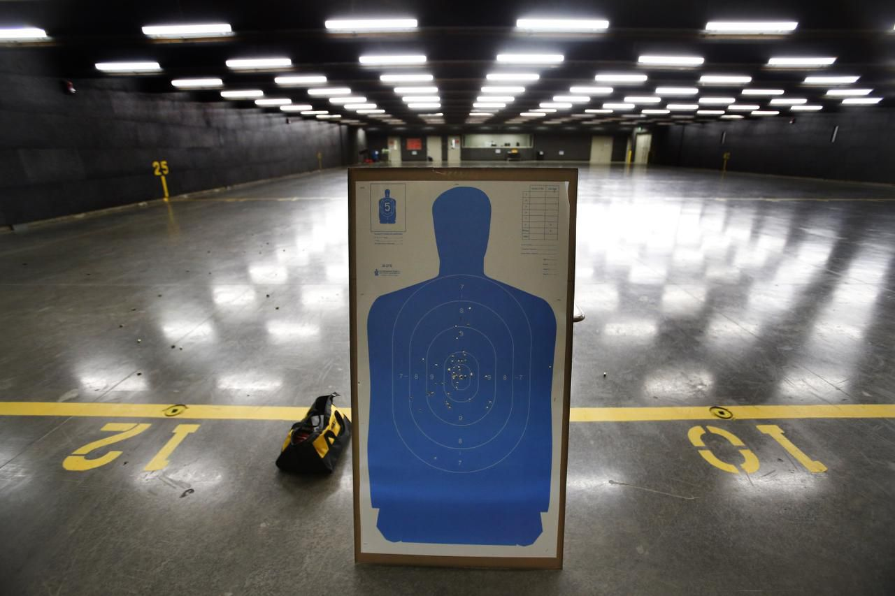 A target shows the accuracy of a shooter at a shooting range at the Criminal Justice Training Center at Tarrant County College's Northwest Campus in Fort Worth. McKinney shooters will no longer have to go to another city to practice after city council approved a Special Use Permit for a new facility.