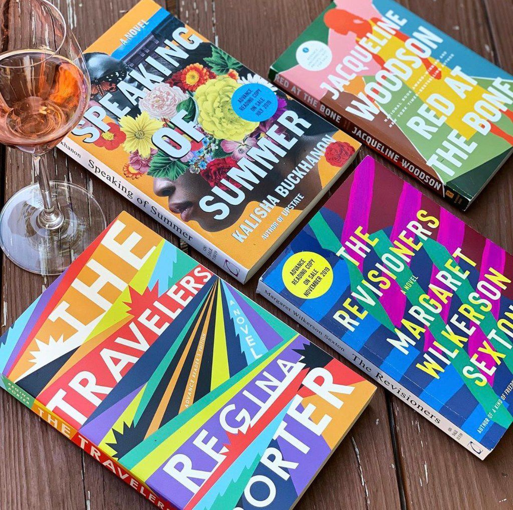 Jamise Harper's Spines and Vines account on Bookstagram is an ode to her two loves: books and wine. Her near-daily photos are colorful and often include wine or food.