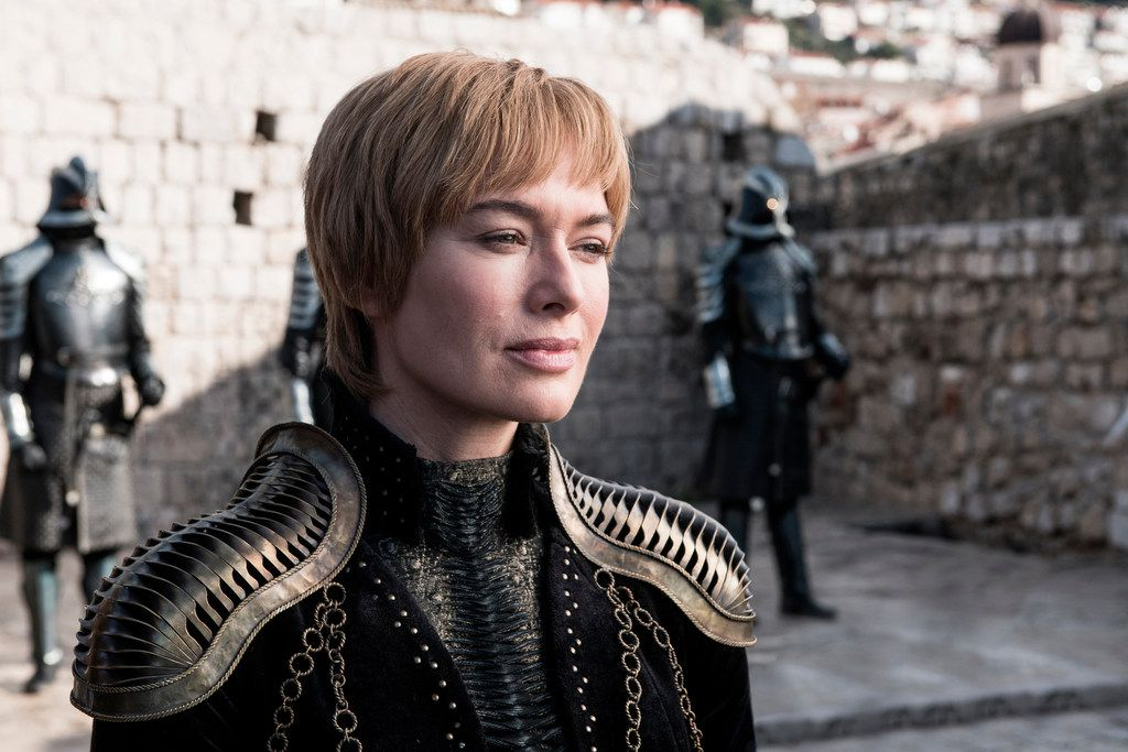 This image released by HBO shows Lena Headey in a scene from Game of Thrones. On Tuesday, July 16, 2019, Heady was nominated for an Emmy Award for outstanding supporting actress in a drama series.  (HBO via AP)