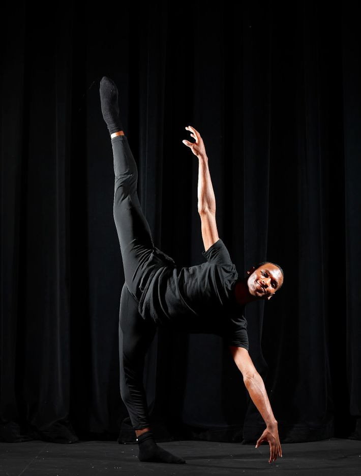 Ricardo Hartley, 18, poses for a photograph at Booker T. Washington High School for the Performing and Visual Arts in Dallas, Thursday, May 11, 2017. He's one of the five Booker T. Washington students that have been accepted to attend the Juilliard School in New York City.