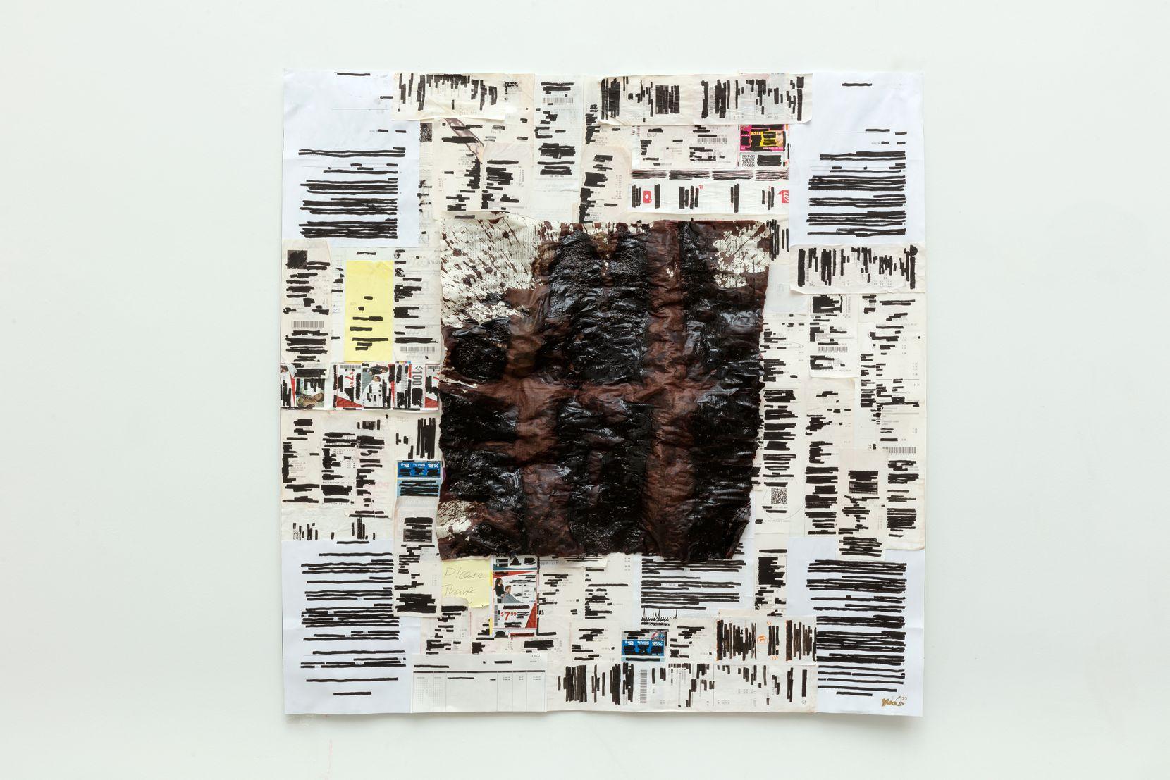Xxavier Edward Carter, 'Black Summer,' 2021, Blood, Sumi ink, tape on paper. (Kevin Todora)