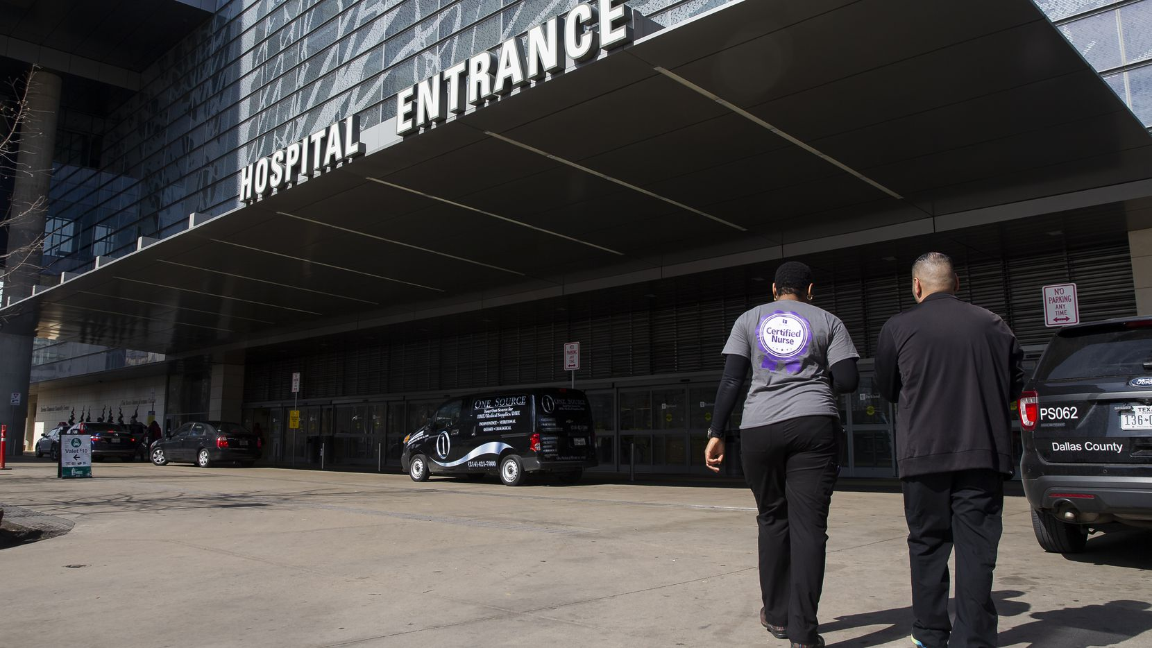 Parkland Memorial Hospital, shown Friday Jan. 31, 2020 in Dallas, where a man charged with assault was taken after he claimed to Dallas County jail officials to be sick with the coronavirus after traveling abroad.