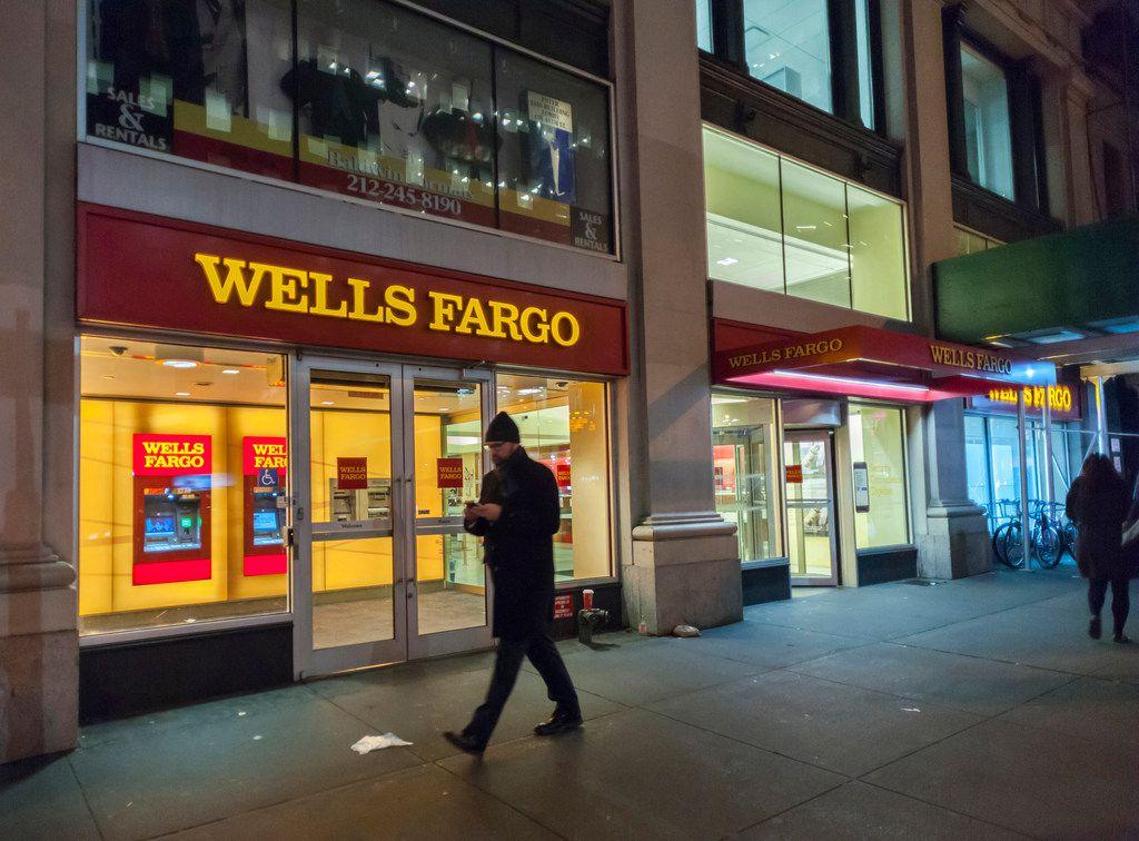 A Wells Fargo branch in New York.