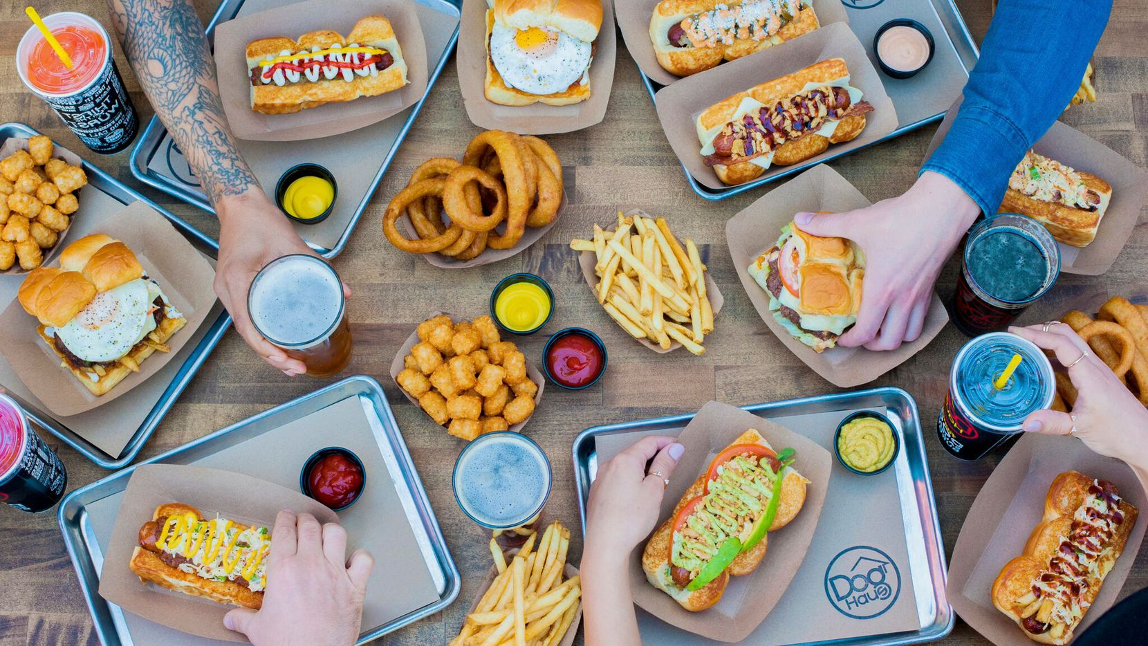 Dog Haus is a hot-dog franchise that's opening in Arlington in late summer 2019.