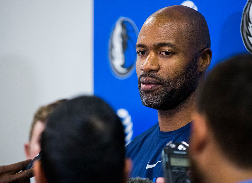 Head Coach Jamahl Mosley talks to reporters during a Dallas Mavericks NBA Summer League practice at the Mavericks' training facility on Monday, July 02, 2018.