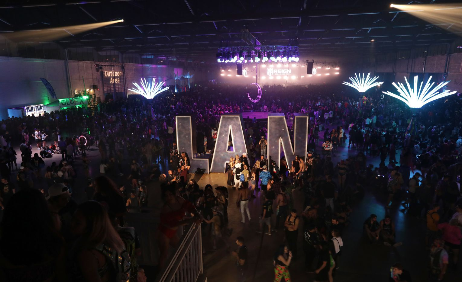 Guests attend Lights All Night at Dallas Market Hall in Dallas, Texas, on Dec. 27, 2019.