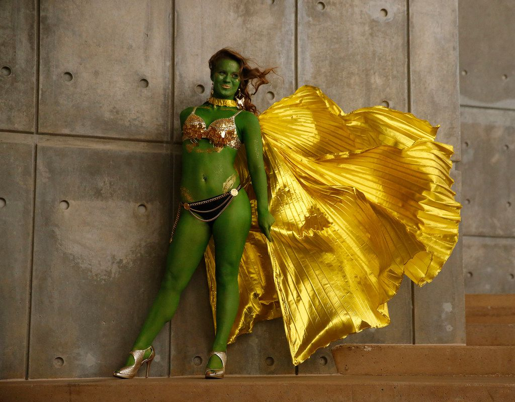 Rachel Maddalena of Lewisville as an Orion slave girl from Star Trek.