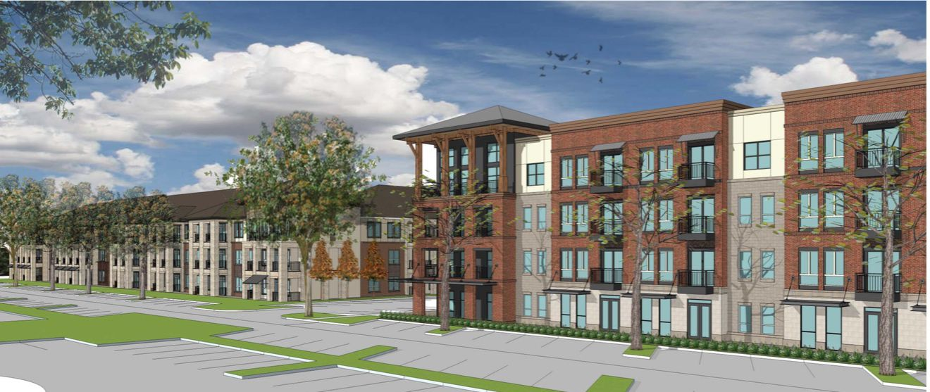 The apartments will join hotels, retail and office in the mixed-use project.