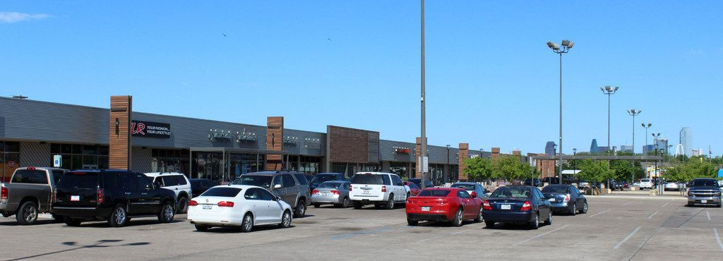 Trinity West Shopping Center is on the northwest corner of Singleton Boulevard and Hampton Road in Dallas.