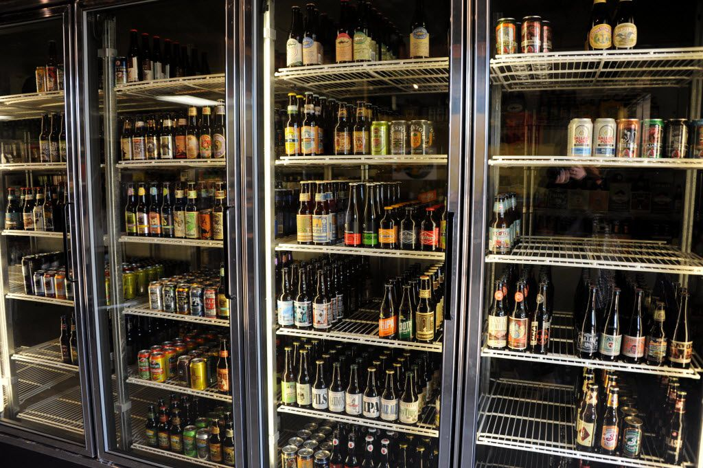 Local beer stocks the shelves at Goodfriend Package in Dallas, TX on January 13, 2016.