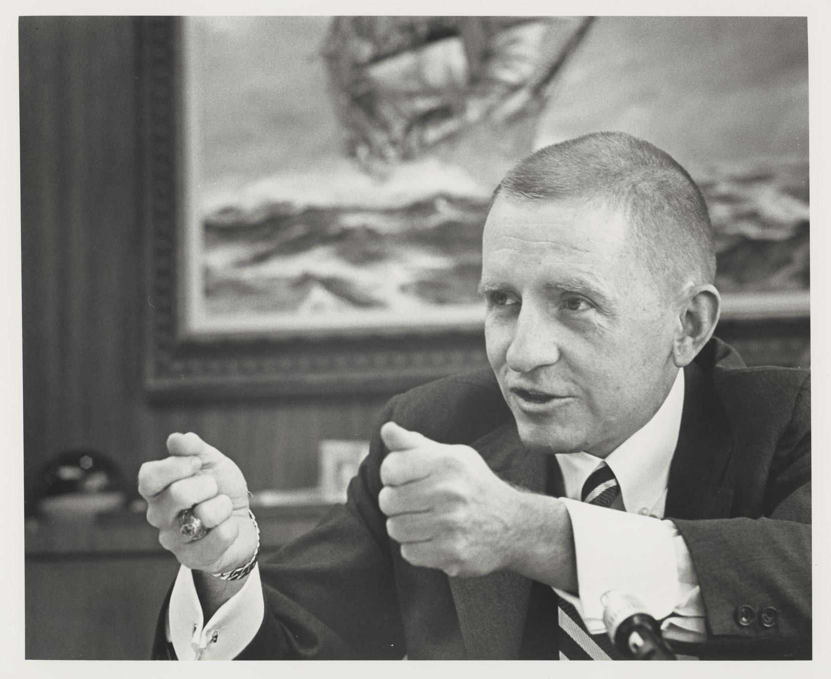 Businessman Ross Perot, photographed for the Dallas Times Herald in Feb. 1973.