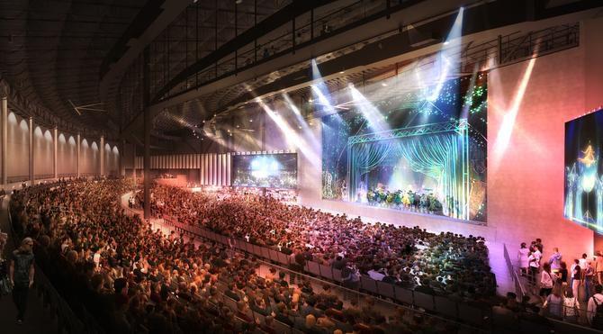 Bajo techo, el Pavilion tendrá una capacidad para 4,000 personas. El nuevo escenario se construye en The Music Factory, en Irving (CORTESÍA/LIVE NATION)