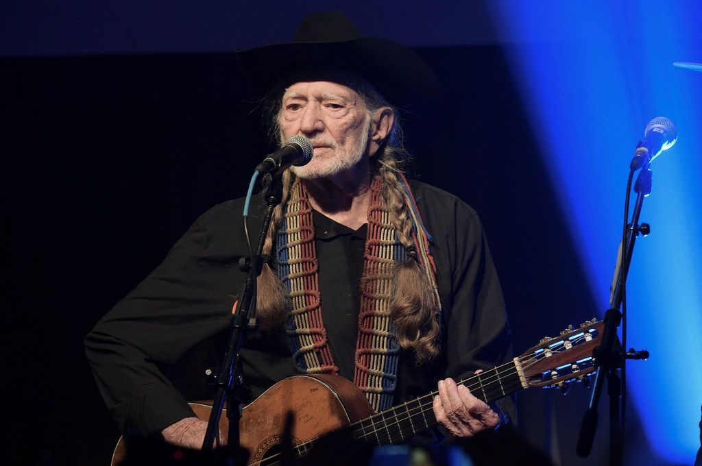 Willie Nelson performs at the Producers & Engineers Wing 12th Annual GRAMMY Week Celebration at the Village Studio in Los Angeles on Feb. 6, 2019.