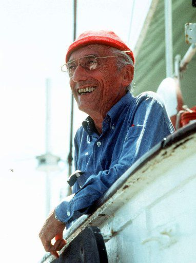 French sea explorer and documentary-maker Jacques Cousteau.