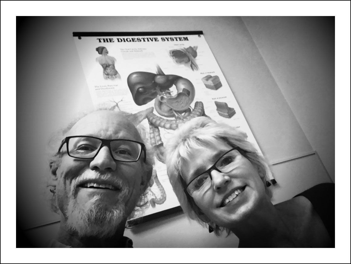 12/15/16 — Last post from the first trip to Houston and @mdandersoncancercenter to see Jaffer Ajani, the top esophageal cancer doc around. Here we sit Thursday late afternoon in his exam room waiting for the news about what Tuesday's PET scan showed. A while later we were really smiling, not forcing it. The forest is thick and I'm far from being out of the woods but some trees have fallen from my path. Both tumors have shrunk. Big nasty in the liver considerably so. Doc says do four more chemotherapy sessions in Dallas and return for further imaging and he'll present my case to the group to discuss next step. Radiation? Surgery? We'll see.