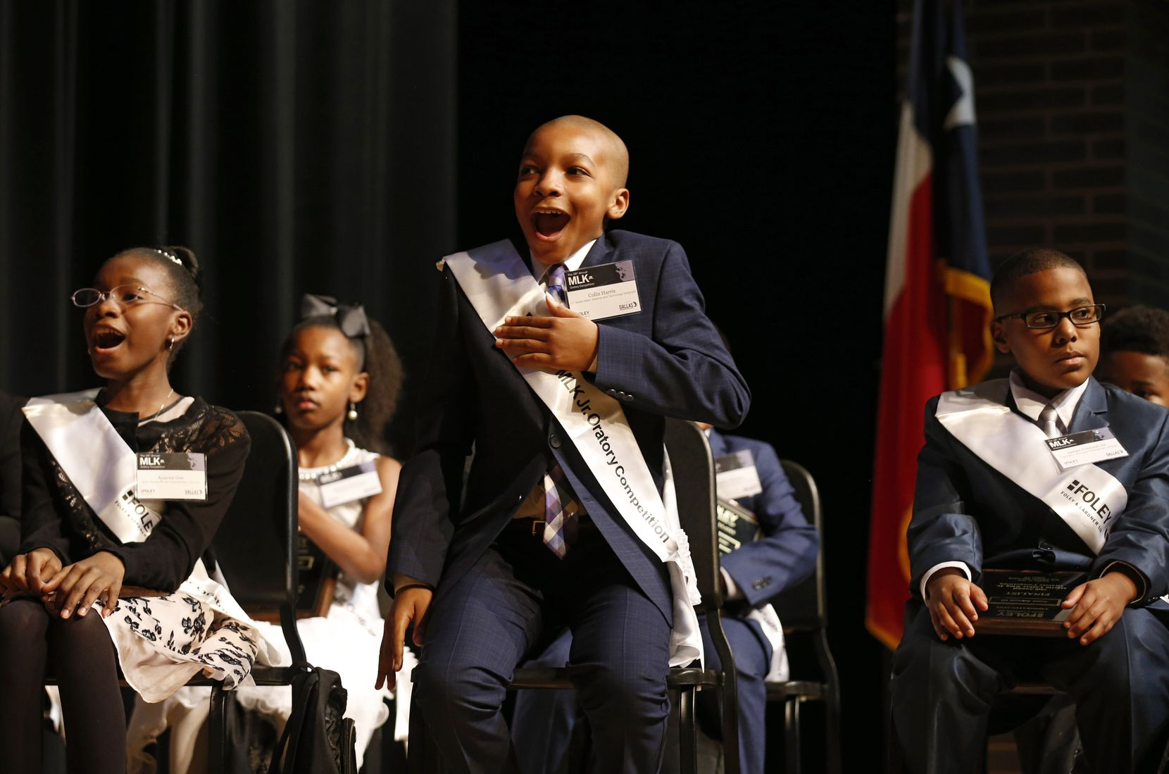 """Fifth-grader Colin Harris of J.P. Starks Math, Science and Technology Vanguard won the MLK Jr. Oratory Competition in January. """"He would remind us that the only way evil exists is for good men to remain silent,"""" said Colin, 11, addressing """"What would Dr. King's vision be for America in 2020?"""""""