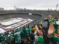 Fans fill Cotton Bowl Stadium during the first period of a NHL Winter Classic matchup between the Dallas Stars and the Nashville Predators on Wednesday, January 1, 2020 in Dallas.
