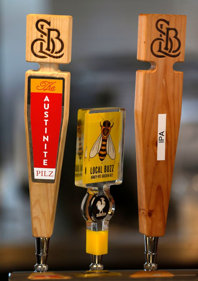 Beers on tap at Hat Creek Burger Company in McKinney, Texas, Tuesday, March 20, 2018. (Jae S. Lee/The Dallas Morning News)