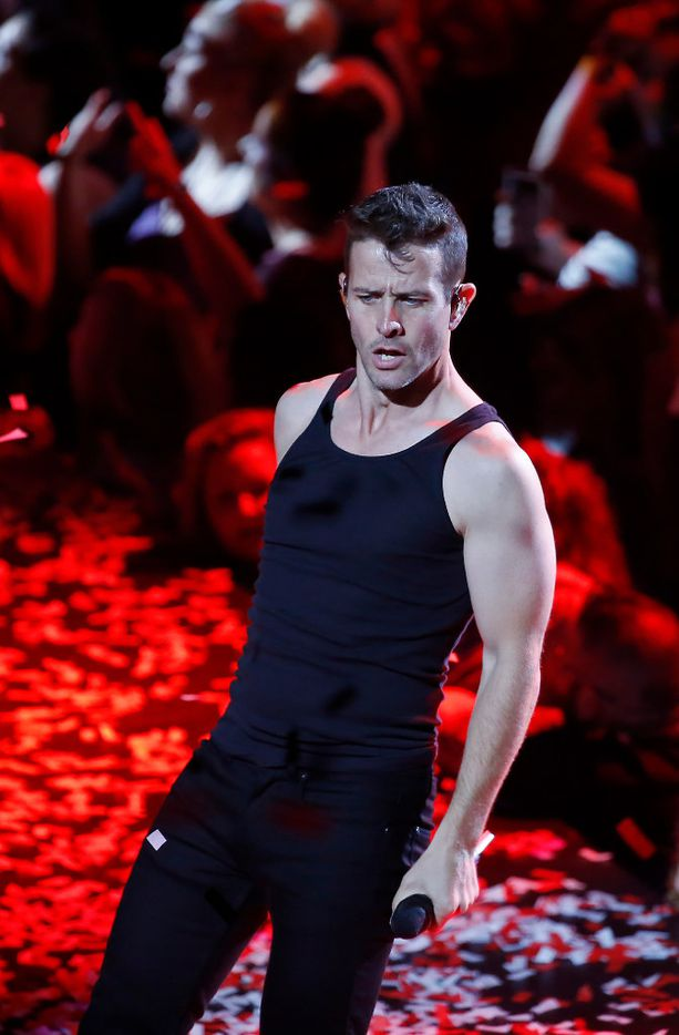 New Kids On The Block's Joey McIntyre performs on stage during the Total Package Tour at American Airlines Center in Dallas, Tuesday, May 23, 2017. (Jae S. Lee/The Dallas Morning News)