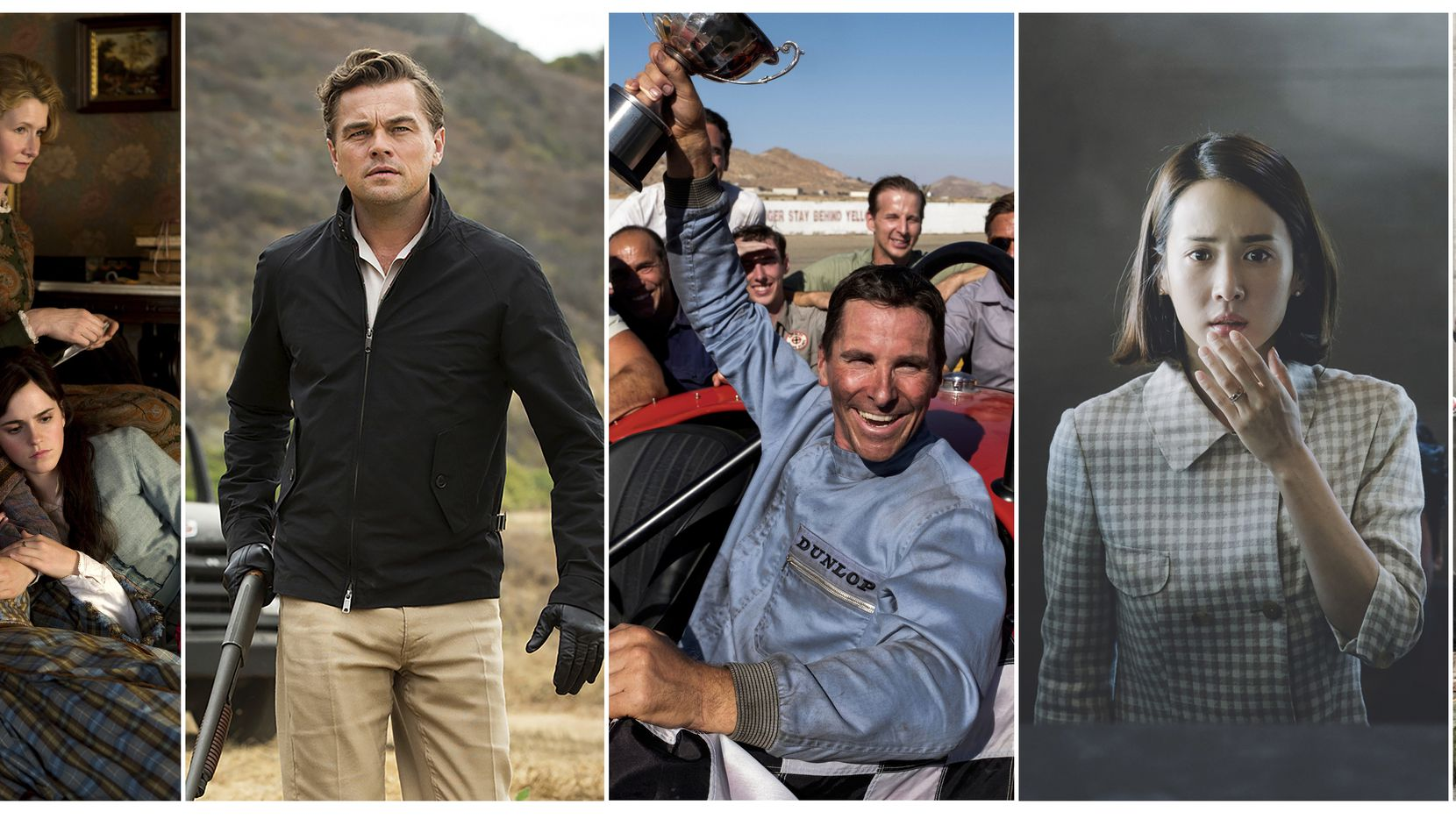"En esta combinación de fotos, escenas de seis películas nominadas al Oscar. De izquierda a derecha: ""Little Women"", ""Once Upon a Time... in Hollywood"", ""Ford v. Ferrari"", ""Parasite"", ""Joker"" y ""1917"". Los Oscar se entregan el domingo 9 de febrero del 2020. (Sony/Sony/20th Century Fox/Neon/Warner Bros/Universal Pictures via AP)"