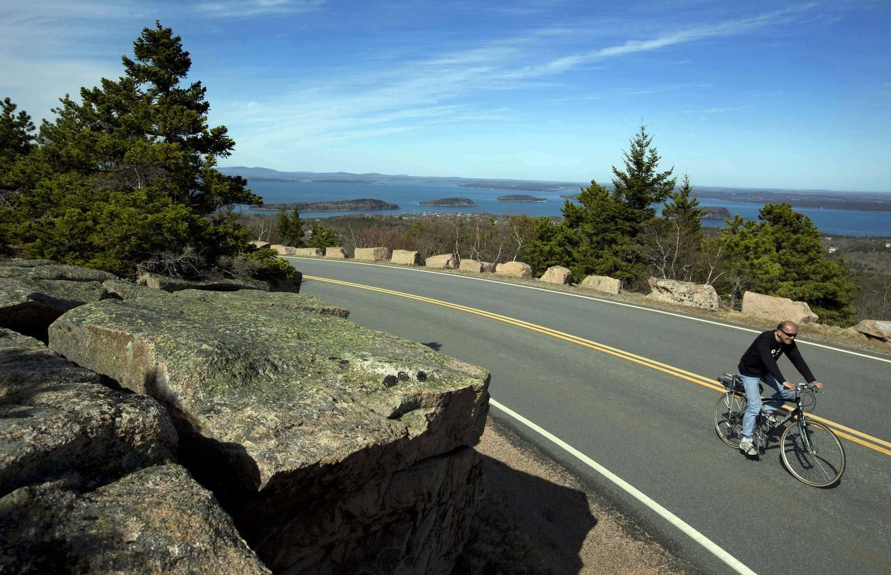 The natural beauty of Acadia National Park in Maine is accessible by land and by sea.