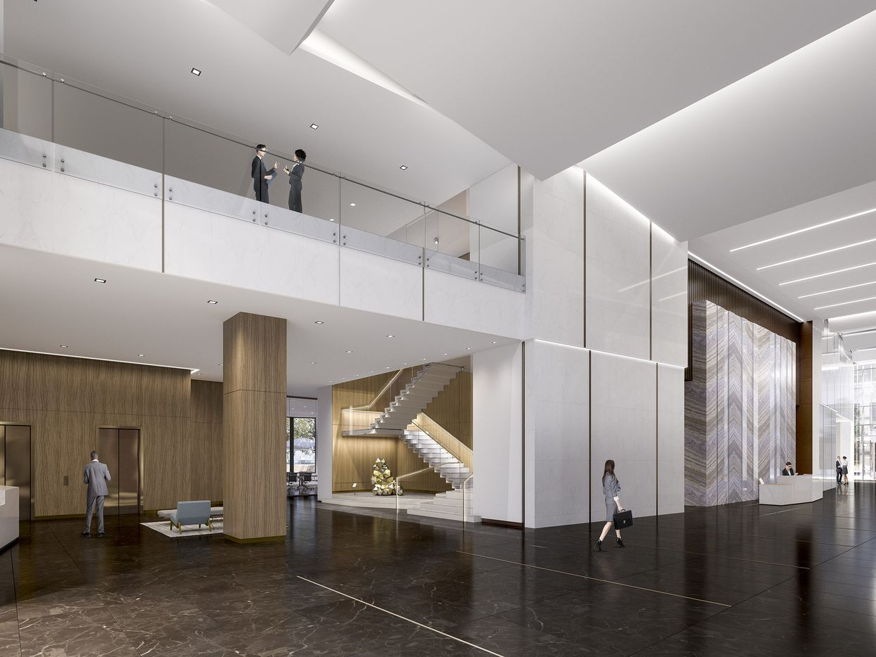 The Trammell Crow Center interior will be redone with lighter materials.