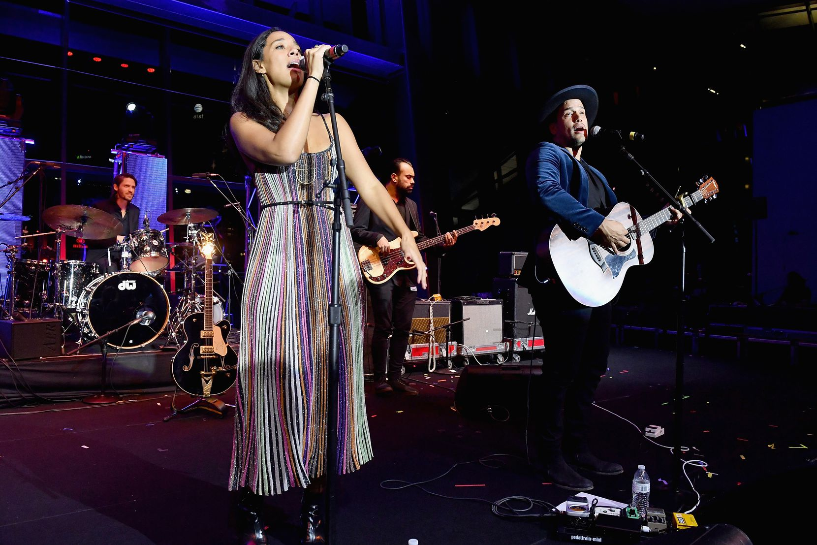 Amanda Sudano Ramirez and husband Abner Ramirez of the folk duo Johnnyswim performed onstage in Nashville in 2017.