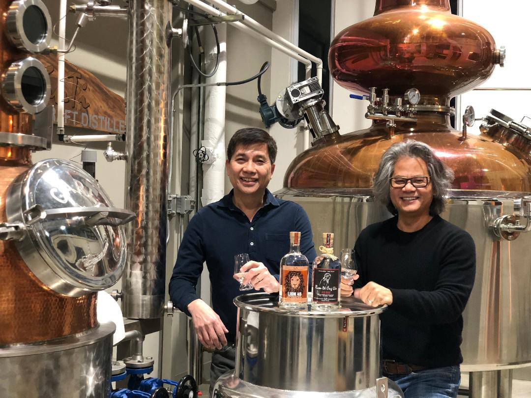 Suy Dinh and Tien Ngo run SuTi Craft Distillery in Kennedale, Texas.