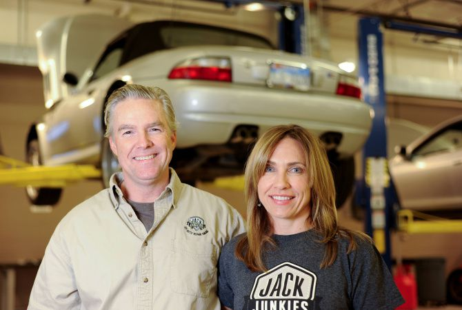 """William and Alyce Callahan opened Jack Junkies in Plano in a former 16,000-square-foot body shop. """"This place will either be hugely successful or it just won't work,"""" she says"""