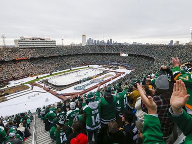 Fans fill Cotton Bowl Stadium during the first period of a NHL Winter Classic matchup between the Dallas Stars and the Nashville Predators on Wednesday, January 1, 2020 in Dallas. (Ryan Michalesko/The Dallas Morning News)
